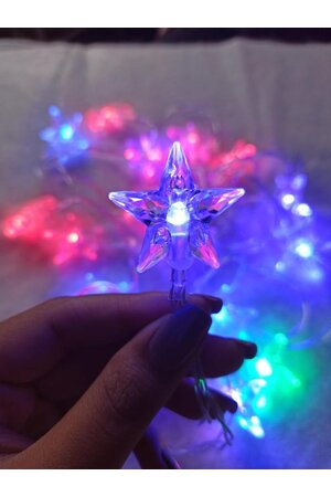 Pisca Fio de Fada LED Estrela Luz Colorida