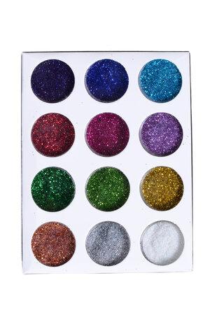 Kit potinhos de Glitter - 12 unidades