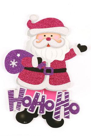 Placa Decorativa Natalina Grande Rosa