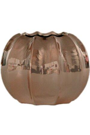 Vaso de Cerâmica Metalizado Rose Gold Grande