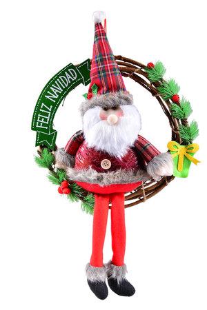 Guirlanda Papai Noel c/ Roupa Xadrez