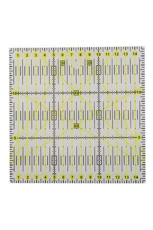 Régua Quadrada para Patchwork 15x15cm.