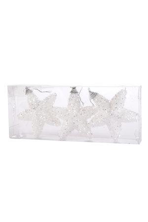 Estrela Flocada de Glitter