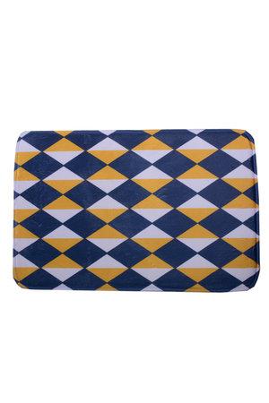 Tapete Triângulos Azul, Amarelo e Branco