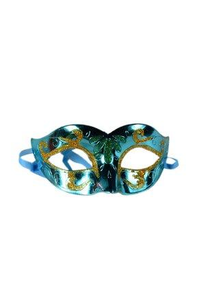 Máscara Veneziana Brilhante com Desenhos de Gliter