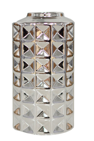 Vaso de Cerâmica Metalizado