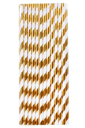Canudo de Papel - Listras Metalizadas