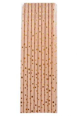 Canudo de Papel - Estrela Dourada
