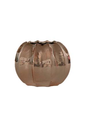 Vaso de Cerâmica Metalizado Rose Gold Pequeno