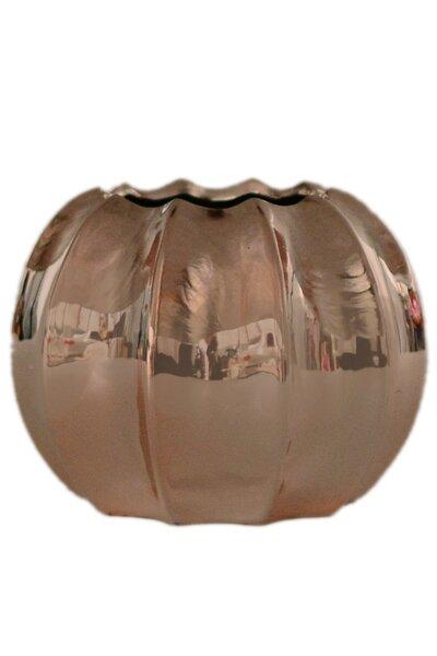 Vaso de Cerâmica Metalizado Rose Gold Médio