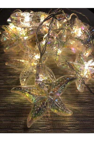 Pisca Fio de Fada LED Estrela do Mar Irisada