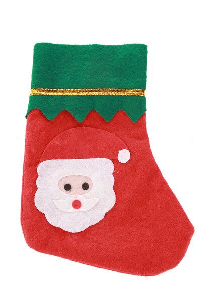 Mini Bota Papai Noel em Feltro
