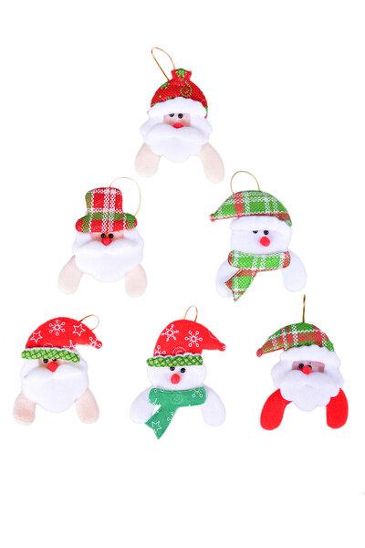 Enfeite para Árvore Noel e Boneco de Neve Sortidos - 10un