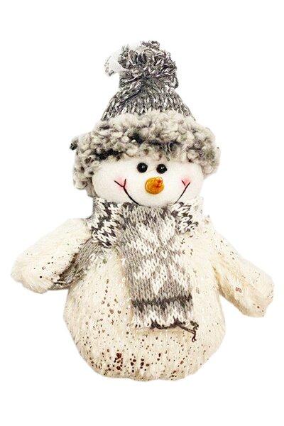 Enfeite para Árvore Boneco de Neve com Roupa Brilhante