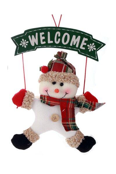 Mini Guirlanda Boneco de Neve Welcome