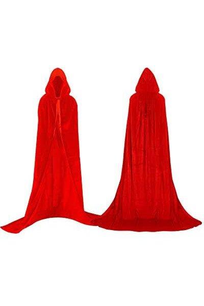 Capa Halloween Vermelha com Capuz