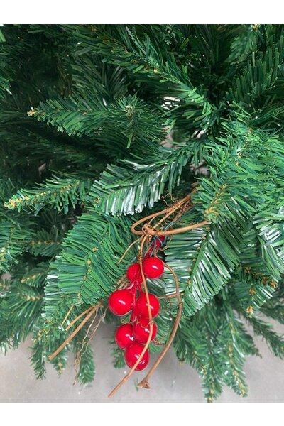 Árvore Pinheiro Luxo Verde com Frutinhas e Galhos