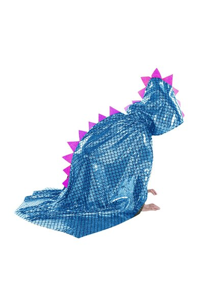 Capa Dino Metalizada de Halloween