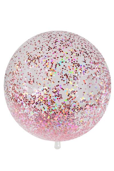 Balão Bubble com Chunky Glitter