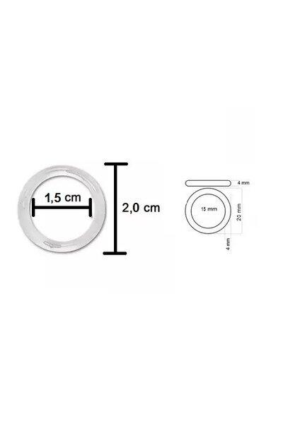 Argola Plástica - 15mm - 144 unidades - Ritas