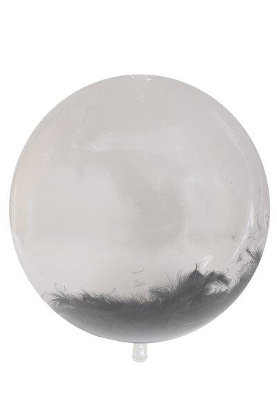 Balão Bubble com Penas