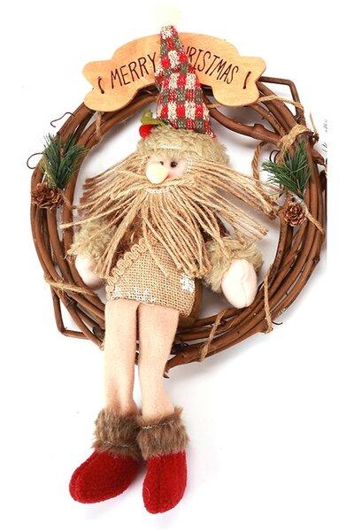 Guirlanda Papai Noel 30cm
