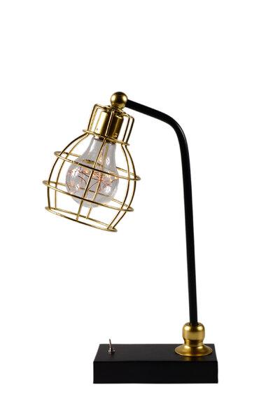 Luminária Preta e Dourada