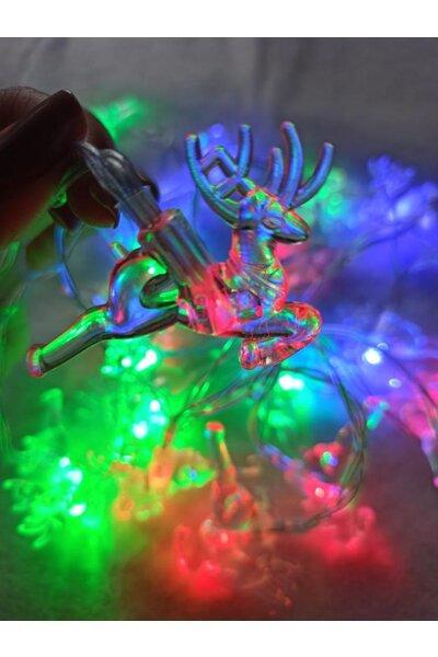 Pisca Fio de Fada LED Rena Luz Colorida