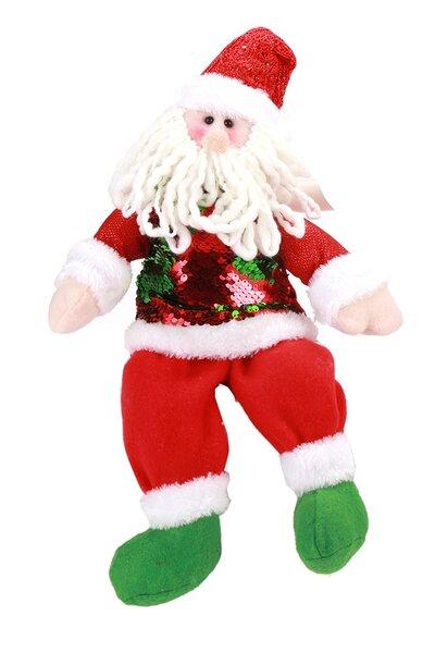 Boneco Papai Noel c/ Roupa de Lantejoulas Sentado