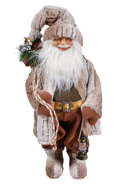Boneco Papai Noel Luxo em Pé 120cm