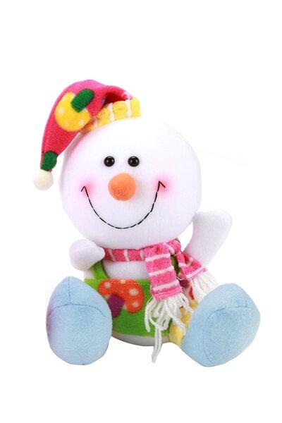 Boneco de Neve Colorido de Gorro