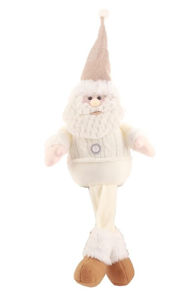 Boneco Papai Noel Sentado com Perninhas Penduradas 44cm