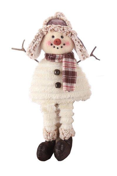 Boneco de Neve Franjas com Chapéu