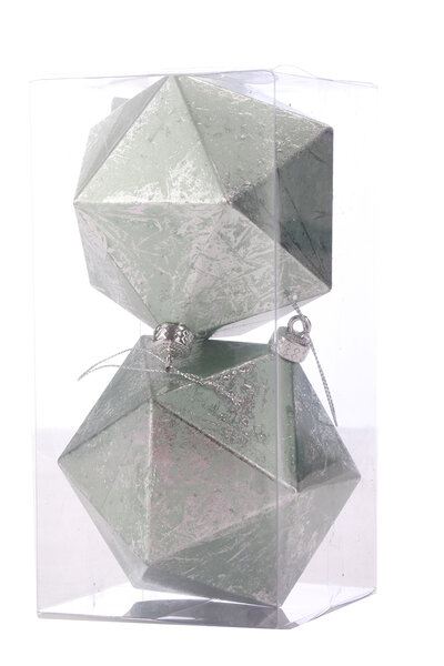 Bola Natalina Luxo Geométrica Triangulos
