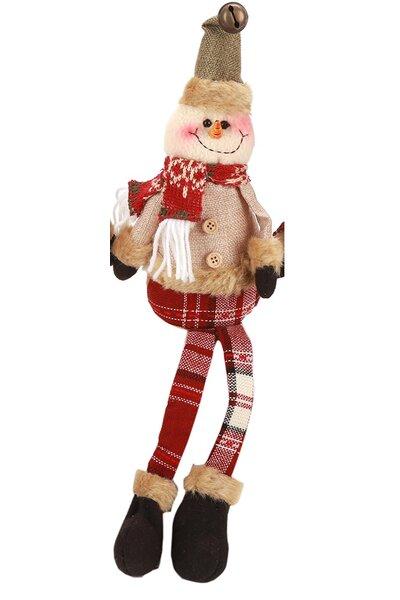 Boneco de Neve Sentado com Perninhas Penduradas - 40cm