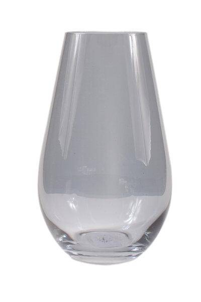 Vaso de Vidro Preto Transparente Curvado