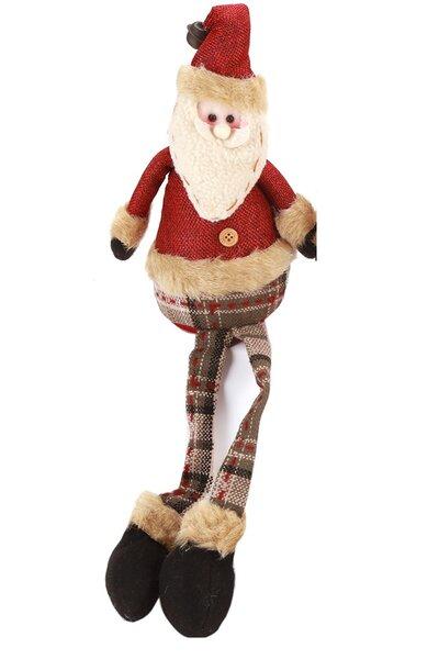 Boneco Papai Noel Sentado com Perninhas Penduradas - 40cm