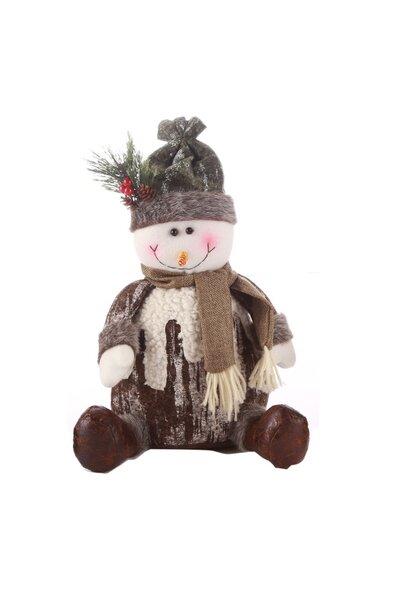 Boneco de Neve com Roupa Nevada Sentado