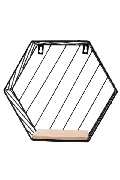 Prateleira Nicho Hexagonal de Metal
