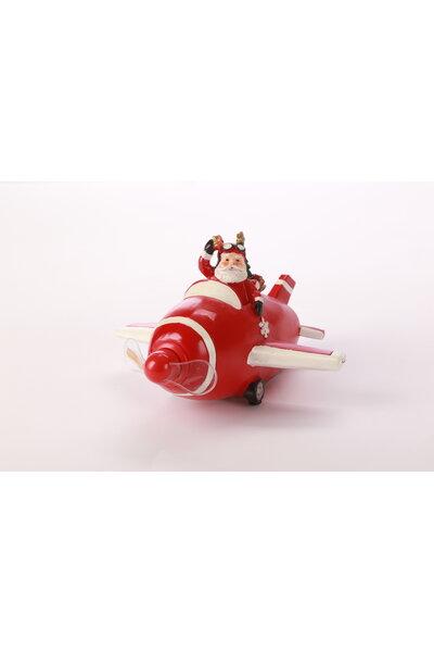 Avião Papai Noel c/ Led na Hélice