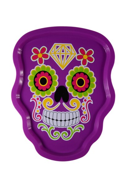 Pratos Decorativos Halloween - Caveira Mexicana