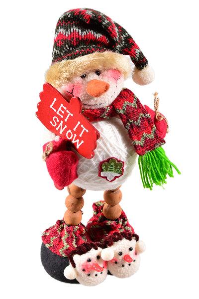 Boneco de Neve com Pantufa