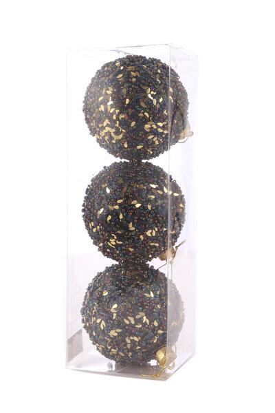 Bola Natalina Luxo c/ Missangas e Glitter