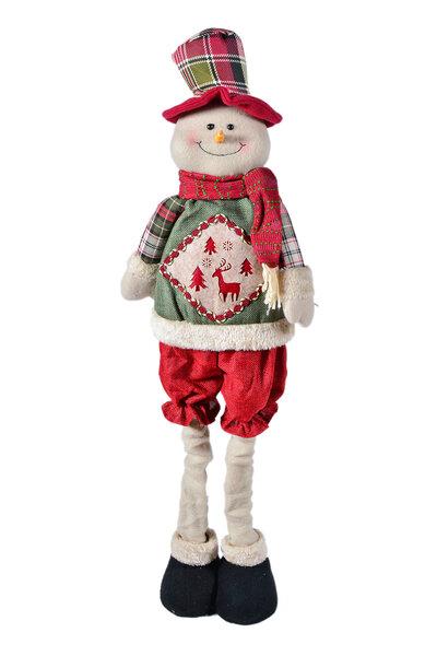 Boneco de Neve Xadrez de Shorts Extensível