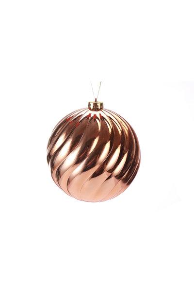 Bola Natalina Metalizada Ondas 15cm