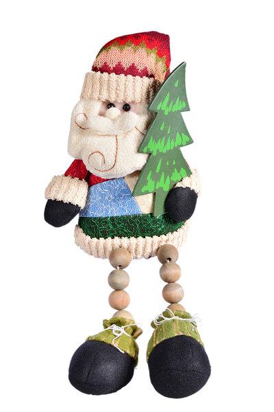 Boneco Noel Sentado Pé de Bolinha 40cm