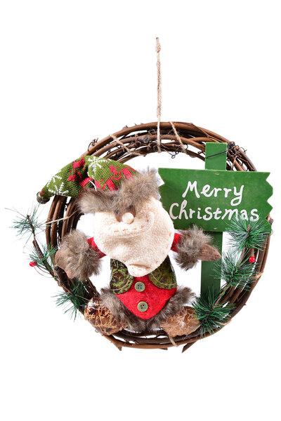 Guirlanda Papai Noel com Plaquinha
