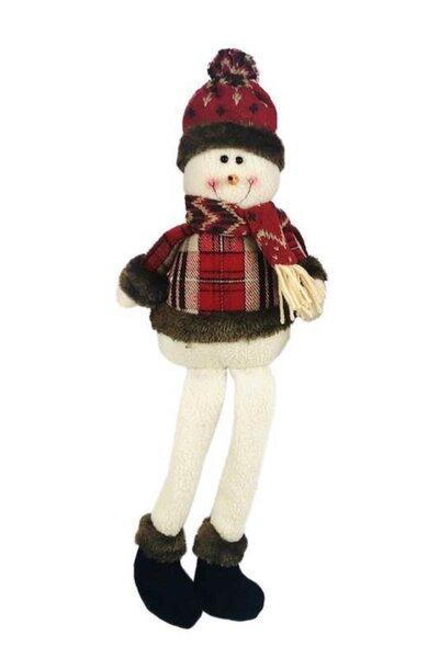 Boneco de Neve Sentado com perninhas penduradas