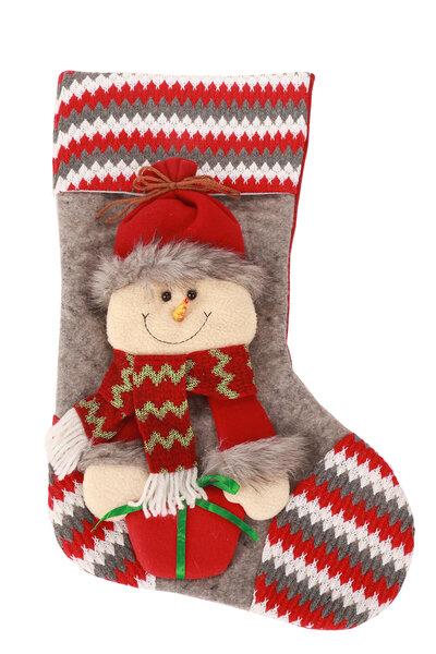Bota Listrada Boneco de Neve comPresente na Mão