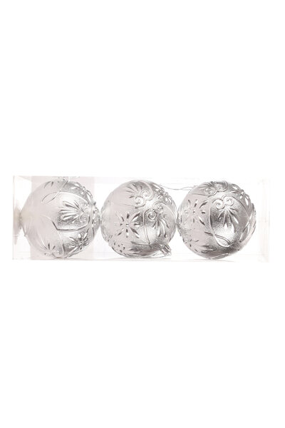 Bola Natalina Luxo c/ Design 10cm